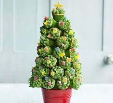 cupcake christmas tree recipe bbc good food