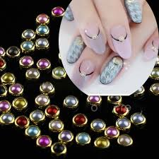 aliexpress com buy mix size ab pearls nail art decoration holo