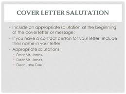 cover letter salutation cover letter format address unknown
