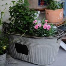 buy galvanized metal planters and get free shipping on aliexpress com