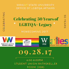 how 2 events 50 years 50 years of lgbtqa legacy at wright state homecoming 2017
