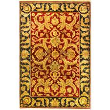 Hand Knotted Rugs India Size 5 U002711 U201d X 9 U0027 Kashan Hand Knotted Wool Rug From India