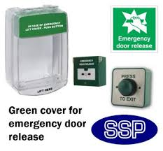 door release emergency button cover wire gaps alarm gs289ad