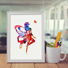 Home Decoration Art Online Shop Flying Pursue Love Art Print Painting Watercolor
