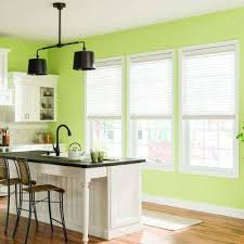 window treatments for kitchens no enclosure light brown wood faux wood blinds blinds the