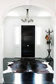 interior inspiring interior design with cowhide rugs and white