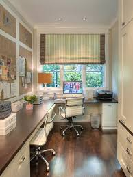 Decorating A Home Office Stylish Window Shade With Classic Dark Wooden Finished Floor For