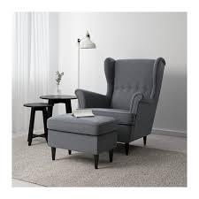 Ikea Cuddle Chair Strandmon Ottoman Nordvalla Dark Gray Extra Seating Ottomans
