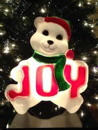Lighted Polar Bear Christmas Decorations by Vintage Christmas 15 Union Hard Plastic Lighted Blow Mold Mouse