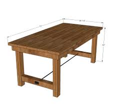 8 Ft Table Dimensions by Ana White Happier Homemaker Farmhouse Table Diy Projects