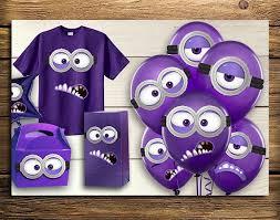 Minion Birthday Decorations Purple Minion Birthday Decorations Image Inspiration Of Cake And