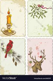 retro christmas cards retro christmas cards royalty free vector image