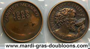 mardi gras deblume crescent city doubloon traders krewe of bacchus web page