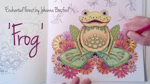 enchanted forest johanna basford frog