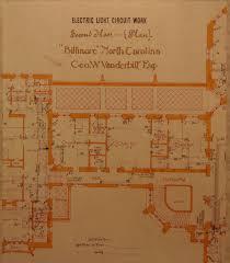 biltmore house 2nd floor blueprint floorplan biltmore estate