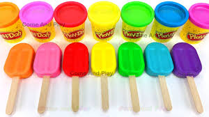 Peppa Pig Play Doh Learn Colors Play Doh Popsicle Peppa Pig