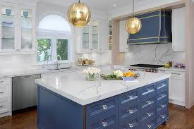 blue kitchen cabinets toronto brass and blue boost a toronto kitchen