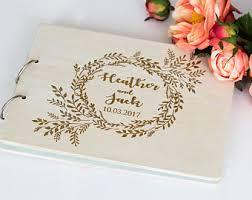 engravable wedding guest book unique guestbook etsy