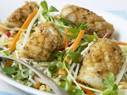 salt and pepper squid with crispy noodle salad recipe food to love