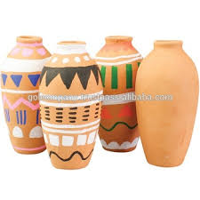 wholesale painting terracotta vase urn plate hand painted
