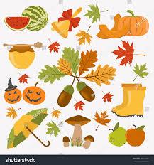 autumn icon set thanksgiving day stock vector 468312320