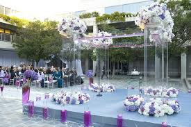 Purple And White Wedding Glam Modern Wedding With Purple Décor In Los Angeles California