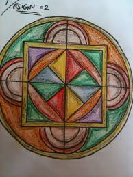 rangoli patterns using mathematical shapes bbps bal bharati public school rohini work by kartik kaura 8d