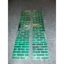ot066 original set of brick tiles in sea green