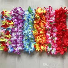 flower leis hawaiian hula hawaii theme luau party garland necklace