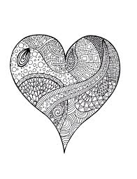 heart zentangle colouring page zentangle coloring and