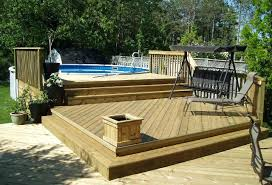 above ground pool and deck designs above ground pool and tub