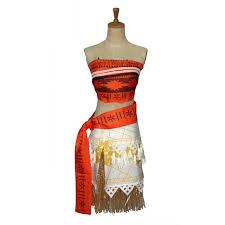 Halloween Princess Costumes Aliexpress Buy Kids Girls Costume Moana Princess Dress