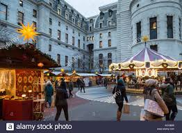 christmas village and winter garden at dilworth park outside of