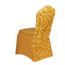 Gold Spandex Chair Covers 50pcs Spandex Chair Cover W 3d Rose Back 10 Colors Welmatch