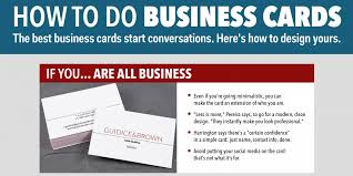 How To Design Your Business Card How To Design An Awesome Business Card Business Insider