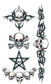 temporary tattoo design tribal skull temporary tattoos