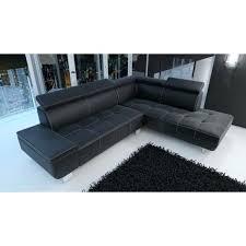 canapé cuir noir 2 places canape cuir noir pas cher meublesline canapac dangle moderne