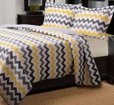 Chevron Bedrooms Yellow And Grey Chevron Bedding