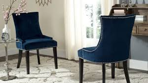 Upholstered Dining Chair Set Navy Upholstered Dining Chair Chairs Amusing Blue