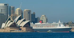 photos two ridiculously huge cruise ships are in sydney together