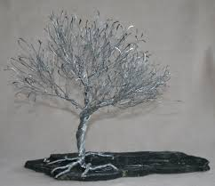 how to make wire sculpture trees steel hammered twisted