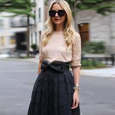 lace skirt fashion women black lace skirt with satin knot bow high