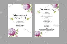 wedding fan program wedding fan program template invitation templates creative market