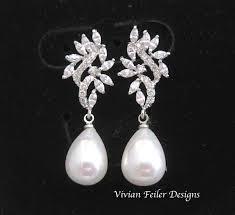 bridesmaid pearl earrings earrings pearl tear drop wedding jewelry bridal pearl earrings