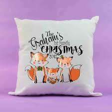 christmas foxes first family xmas personalised first christmas