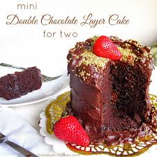 mini 4 inch double chocolate layer cake for two lindsay ann bakes