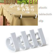 plastic table covers for weddings 4pcs plastic table cover cloth desk skirt clip wedding party picnic