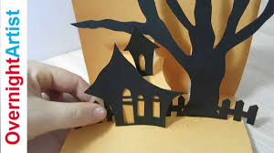 halloween greeting cards halloween card how to make pop up card for halloween youtube