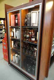locking wine display cabinet locking tall display case for valuable wine spirits modern store