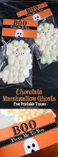chocolate marshmallow ghost treats oh my creative